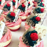 Raspberry & Chocolate cupcake