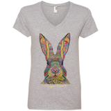 Rudyard Rabbit™ Ladies' V-Neck T-Shirt - T-Shirts