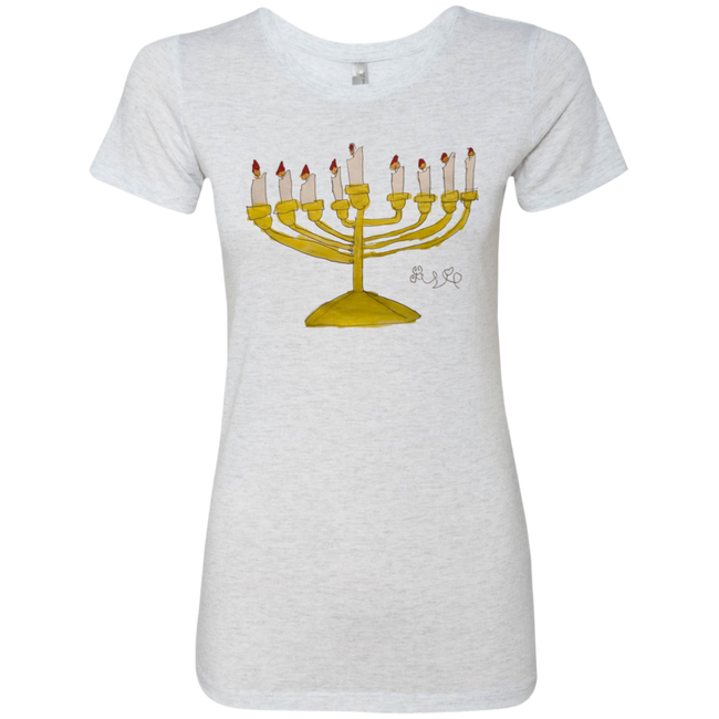 Josie's Menorah t-shirt (Ladies' Cut) - T-Shirts