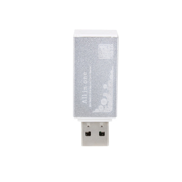 USB Smart Card Reader for Micro SD, TF, M2, MMC, SDHC, & MS -