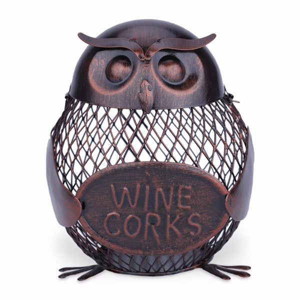 Sculpted Iron Cork Holders & Piggy Banks -