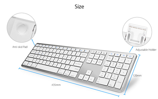 Magic Keyboard with Numeric Keypad for use with iOS Devices -