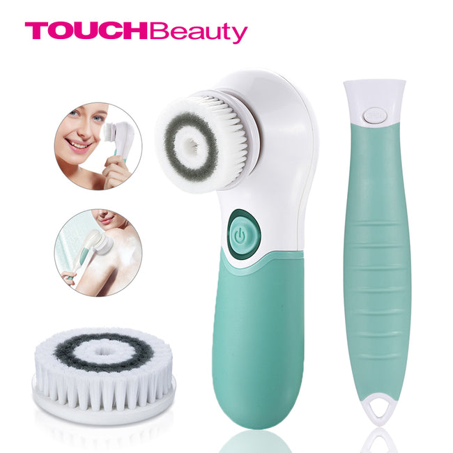 TOUCHBeauty 2-in-1 Rotating Waterproof Facial & Body Deep Cleansing System -
