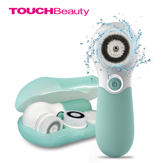 TOUCHBeauty Deep Cleansing Facial Brush Set with 3 Heads -