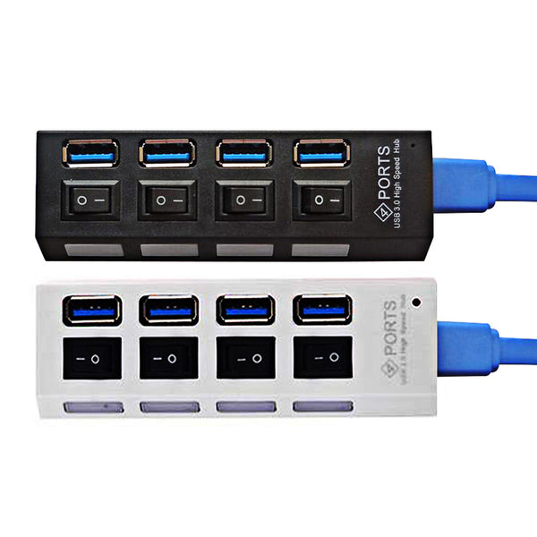 Portable USB3.0 Hub with 4 or 7 Ports -