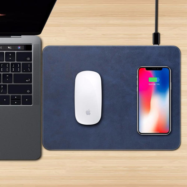 2-in-1 Wireless Phone Charger and Mouse Pad -