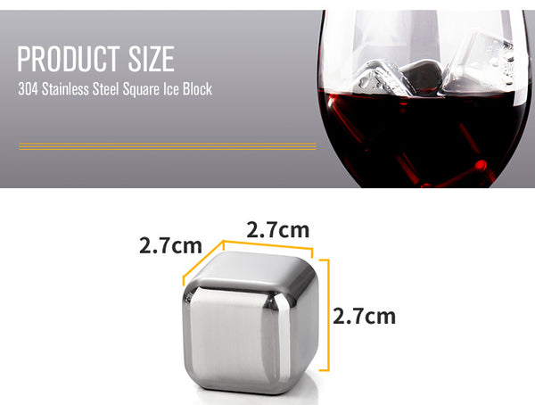 Stainless Steel Cocktail Cubes -