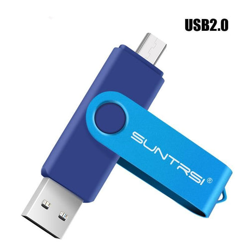 2-in-1 USB2.0 & Micro USB/OTG Flash Drive for Android Phones -