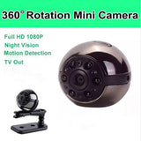360° Mini Camera. 1080P/12MP/IR/Motion Detection. 100% PORTABLE. -