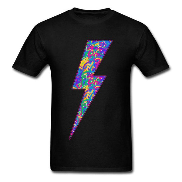 Trippy Neon Bolt t-shirt -