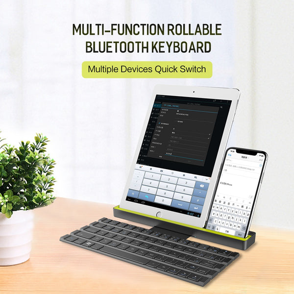Multifunction Rollable Bluetooth Keyboard for iOS -