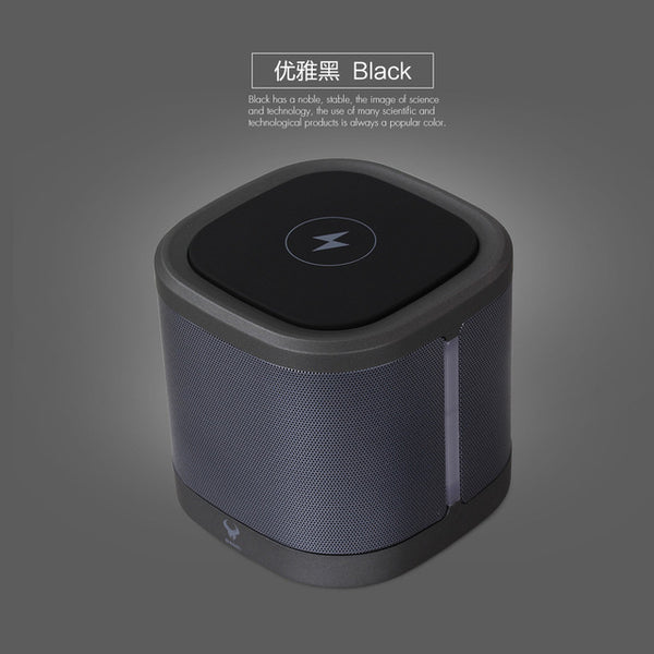 2-in-1 Qi Wireless Charging Station AND Bluetooth Heavy Bass Loudspeaker -