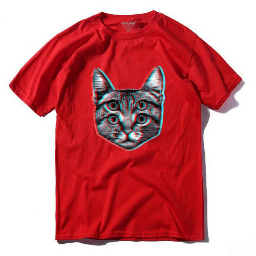 4-Eyed Cat t-shirt - T-Shirts