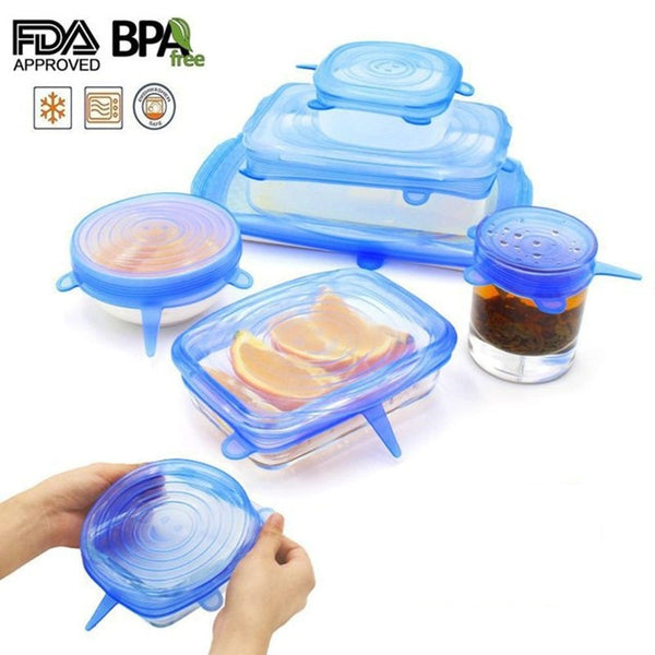 Silicone Vacuum Stretch Sealer Lids -