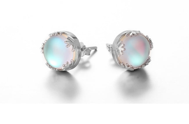 Aurora Borealis Sterling Silver Earrings - NEW! -