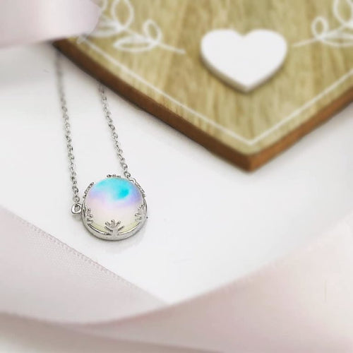 Aurora Borealis Sterling Silver Necklace -