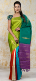 Multicoloured Pure Kanchipuram SIlk Saree With Pure Zari