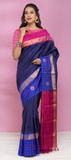 Blue Pure Kanchipuram Handloom Silk Saree With Pure Zari