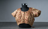 Gold Blouse with Floral Embroidery