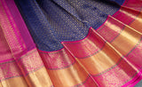Royal Blue Kanchipuram Silk Saree with Long Border