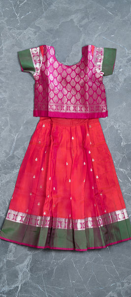Pattu Pavadai (Silk Blouse & Skirt)