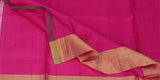 Deep Pink, Yellow & Blue Soft Silk Saree