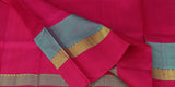 Off-White Pure Kanchipuram Handloom Silk Saree With Multicoloured Border