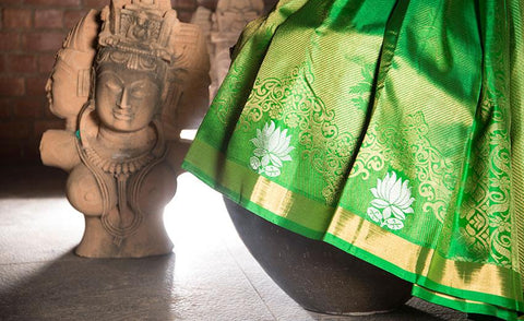 Green Luxury Silk Saree Woven In Pure Zari