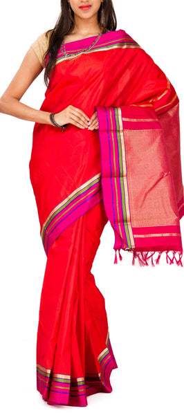 Red Lightweight Kanchipuram Silk Saree