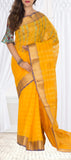 Mango Yellow Semi Silk Cotton Saree