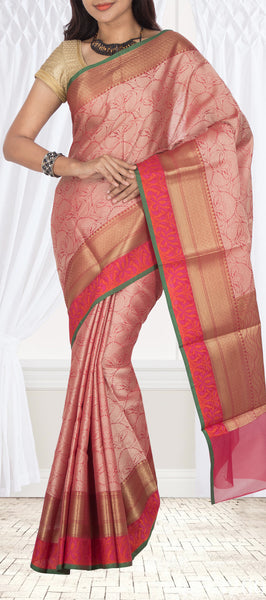 Onion Pink Organza Saree