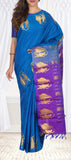 Blue & Purple Lightweight Kanchipuram Silk Saree