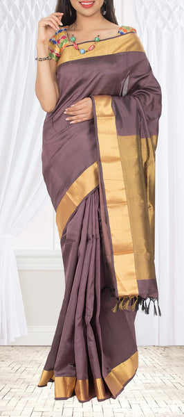 Musk Grey Lightweight Kanchipuram Silk Saree