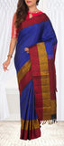 Blue, Red & Mustard Soft Silk Saree