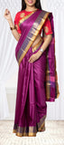 Purple Semi Tussar Saree