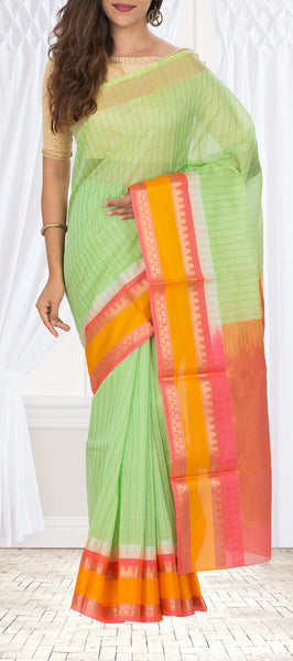 Light Green Silk Cotton Saree