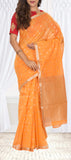 Light Orange Silk Cotton Saree