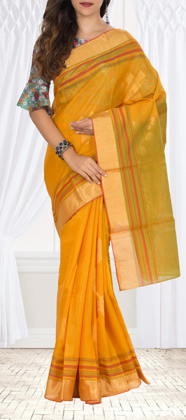 Mustard Silk Cotton Saree