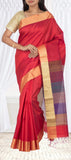 Red Jute Silk Saree