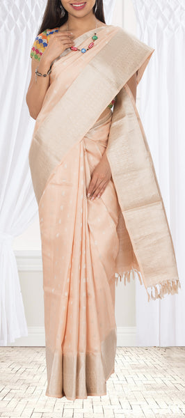 Pale Pink Soft Silk Saree