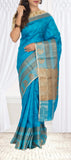 Evening Blue Pure Tussar Silk Saree