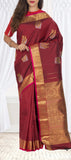Maroon Pure Kanchipuram Handloom Silk Saree With Pure Zari