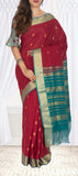 Red & Green Summer Cotton Saree