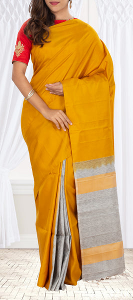 Mustard Soft Silk Saree