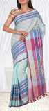 Sky Blue Linen Silk Saree