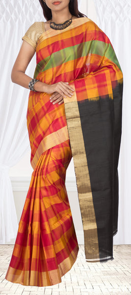Multicoloured Soft Silk Saree