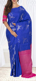 Blue & Pink Soft SIlk Saree