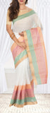 White Semi Silk Cotton Saree
