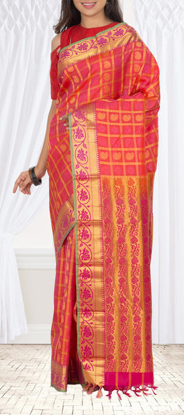 Pink Semi Soft SIlk Saree