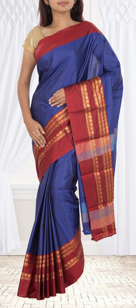 Blue Semi Tussar Saree